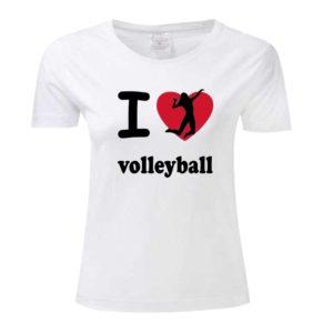 "Koszulka siatkarska ""I love volleyball"" – damska Stedman"