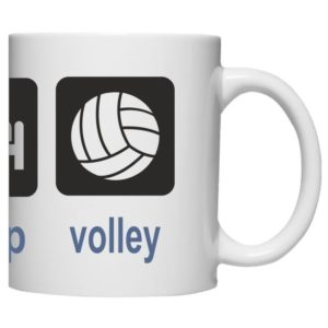 "Kubek ""Eat sleep volleyball"""