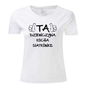 """Koszulka siatkarska """"Ta dziewczyna kocha siatkówkę"""" – damska Stedman"""