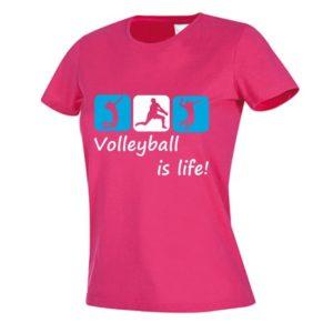 "Koszulka siatkarska ""Volleyball is life"" – damska Stedman"