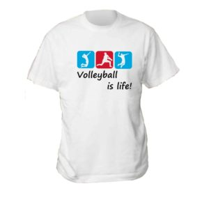 "Koszulka siatkarska ""Volleyball is life"" – męska Stedman"