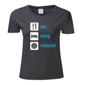 """Koszulka siatkarska """"Eat sleep volleyball"""" – damska Stedman"""