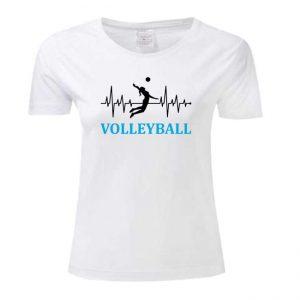 """Koszulka siatkarska """"Bicie serca w rytm siatkówki"""" – damska Stedman"""