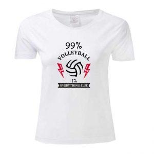 "Koszulka siatkarska ""99% volleyball"" – damska Stedman"