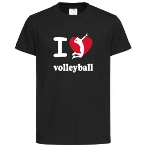 "Koszulka siatkarska ""I love volleyball 2"" – dziecięca Stedman"