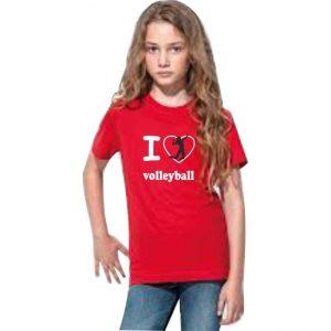 "Koszulka siatkarska ""I love volleyball"" – dziecięca Stedman"