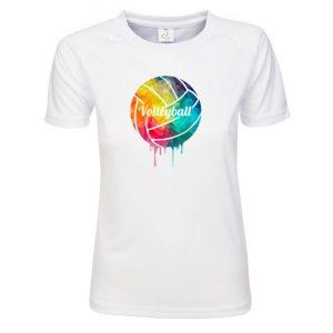 """Koszulka siatkarska """"Kolorowa piłka"""" – damska poliestrowa"""