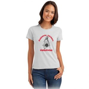 """Koszulka siatkarska """"Piekielnie kocham siatkówkę"""" – damska Stedman"""