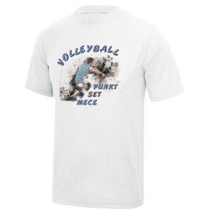 """Koszulka siatkarska """"Punkt, set, mecz"""" – dziecięca poliestrowa"""