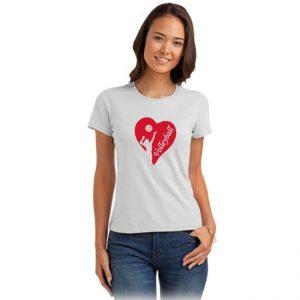 "Koszulka siatkarska ""Siatkarka w sercu"" – damska Stedman"